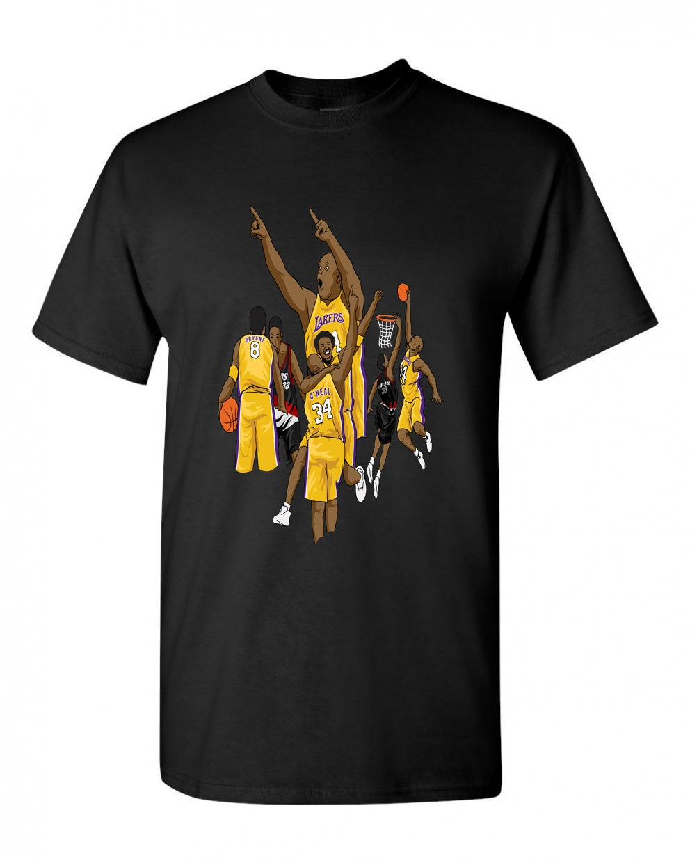 "Image of Kobe to Shaq Shirt ""The Lob"""