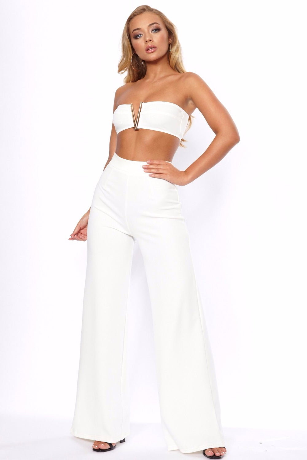 Image of Wide leg trousers