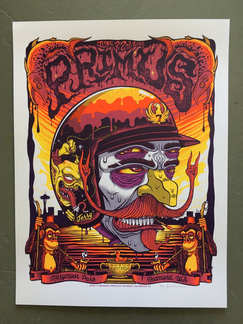 Image of Primus - June 22nd 2018 - Marymoor Park - Regular Edition