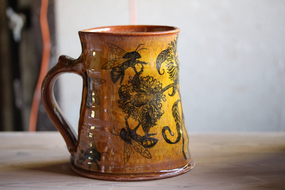 Image of Summer bloom ceramic tankard