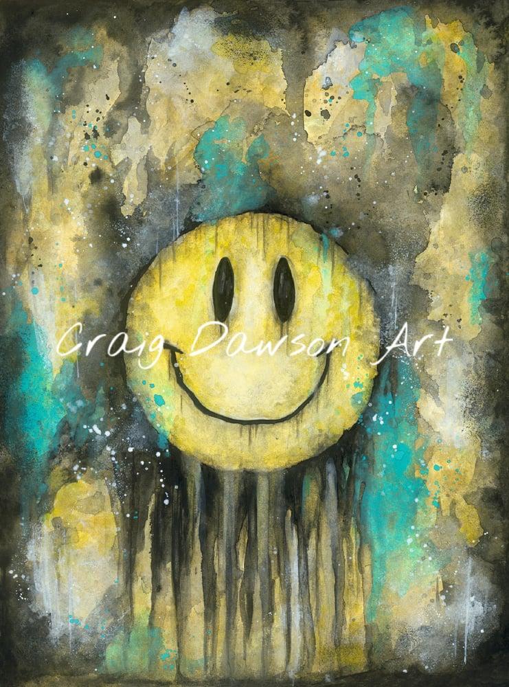 Image of 'Keep smiling' art print