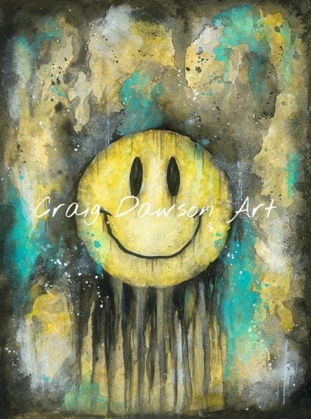Image of 'Keep smiling' art print