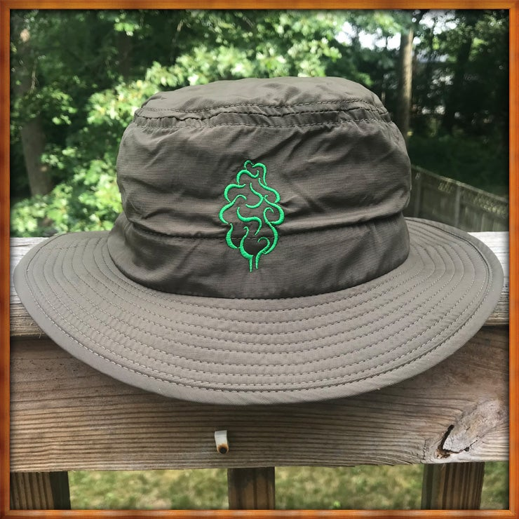Image of Tree Logo Gardening Hat Olive