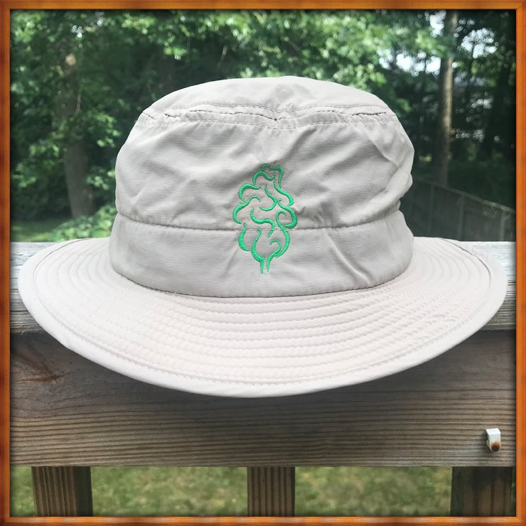 Image of Tree Logo Gardening Hat Khaki