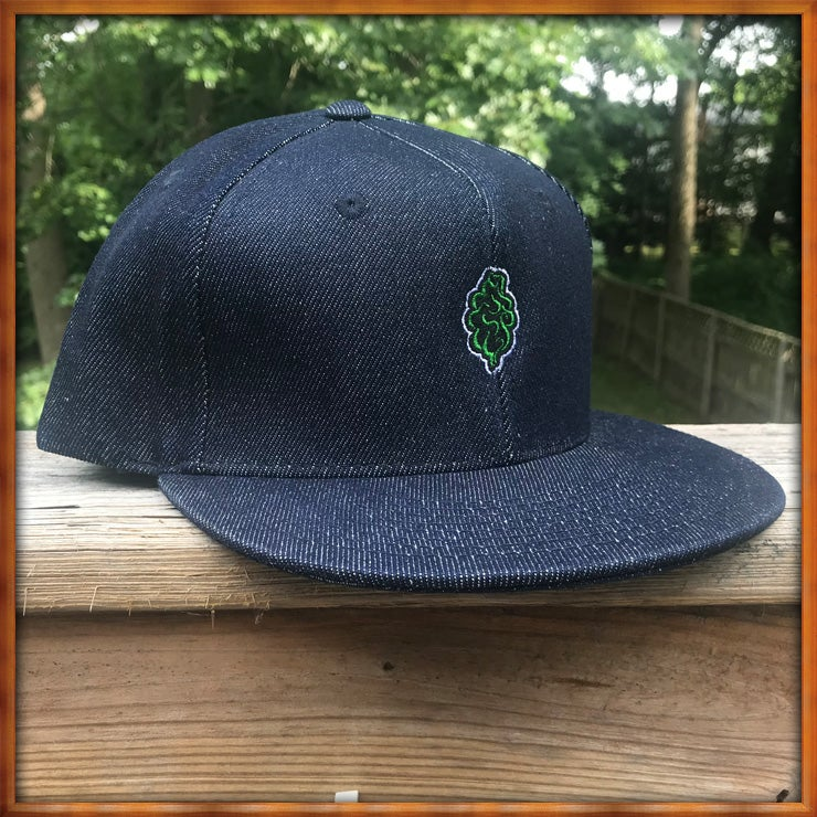 Image of Mini Tree Blue Denim 6 Panel Snapback