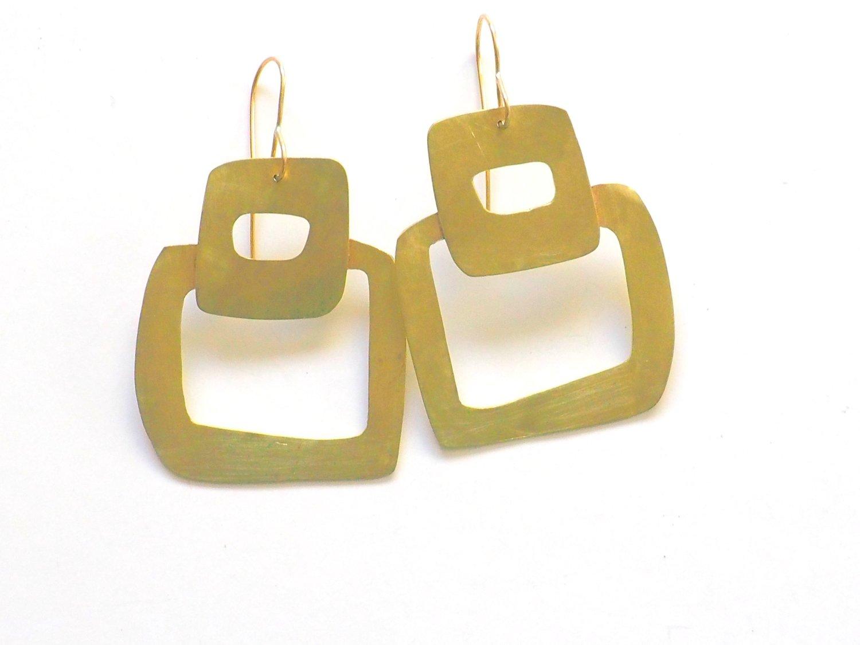 Image of Square medium brass shapes