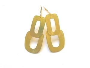 Image of Oval brass shape