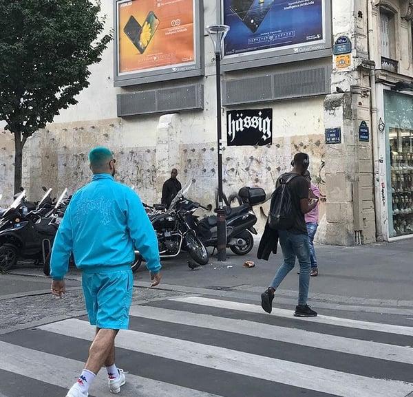 Image of tracksuit jacket blue