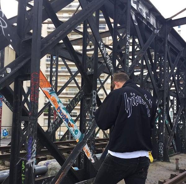 Image of tracksuit black jacket
