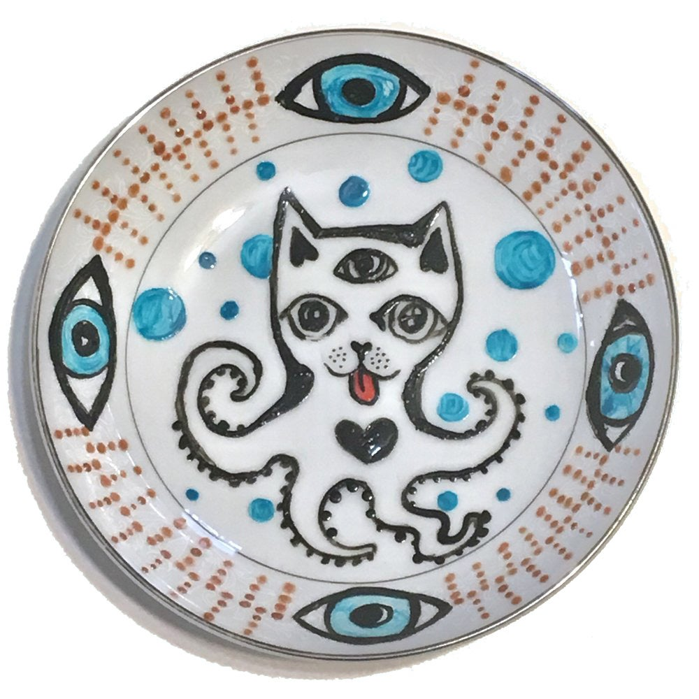 Image of  Clarity CatoPuss - Hand Painted Vintage plate