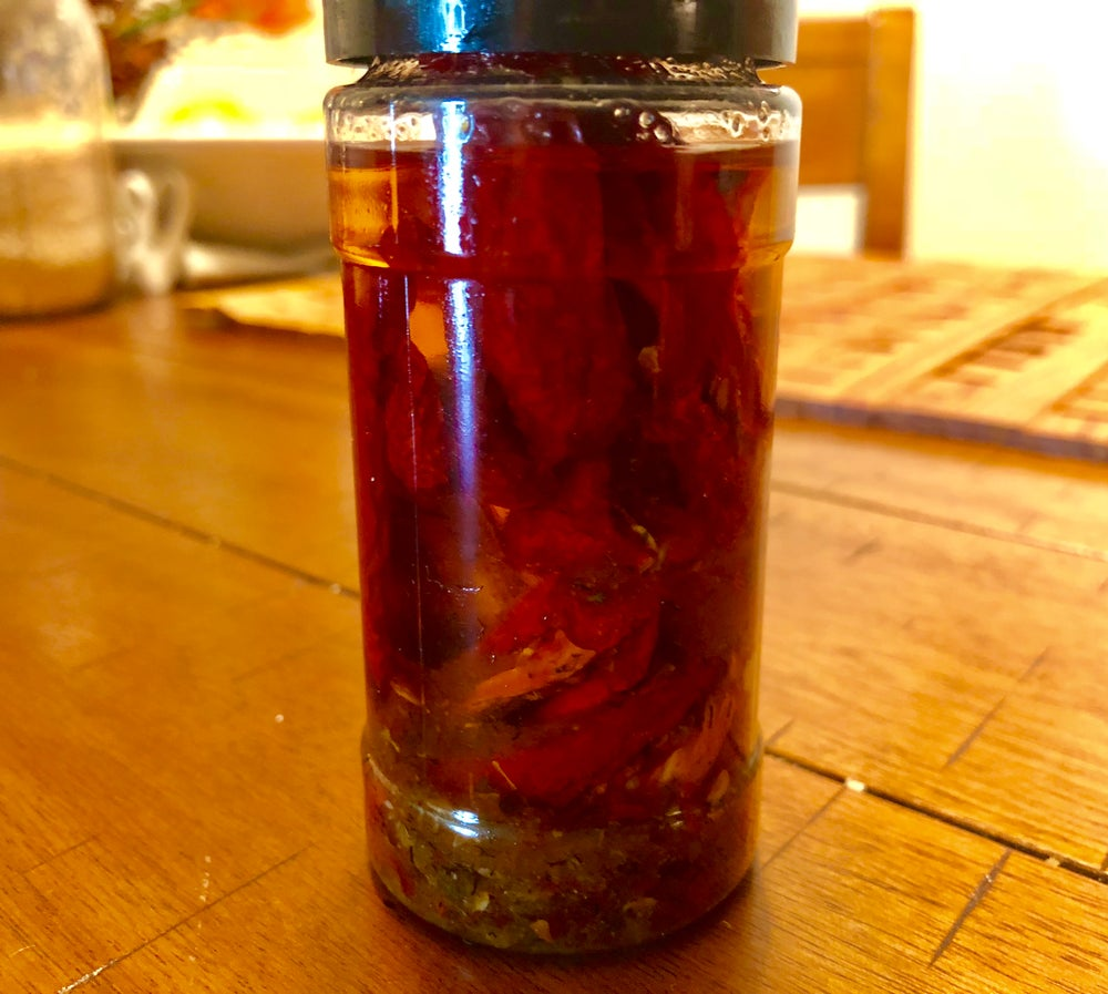 Image of Sun Dried Tomatoes n Mock Garlic Oil w/herbs