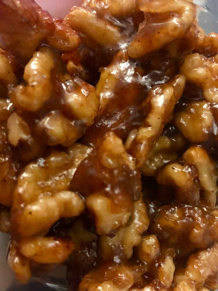 Image of Mock Caramel covered Walnuts