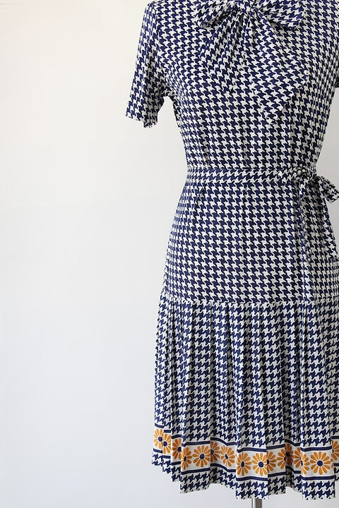 Image of SOLD Houndstooth And Flowers Versatile Dress