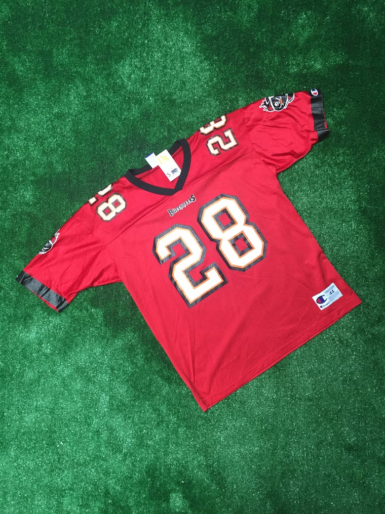 Image of Vintage Warrick Dunn Tampa Bay Buccaneers Champion Jersey (Size 44)