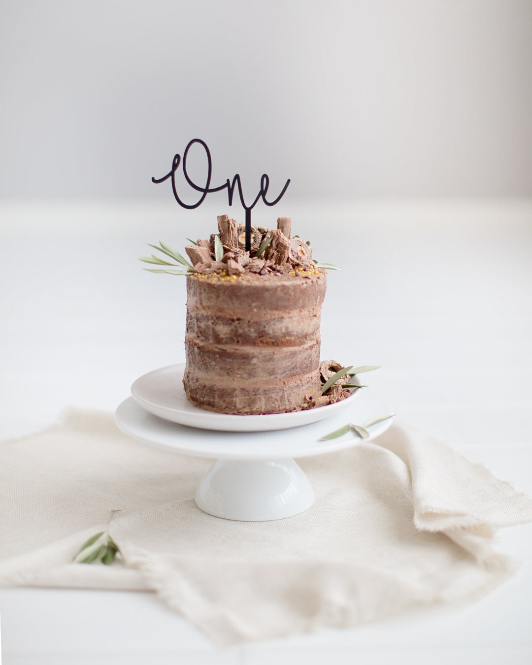 Image of Word Number Cake Topper