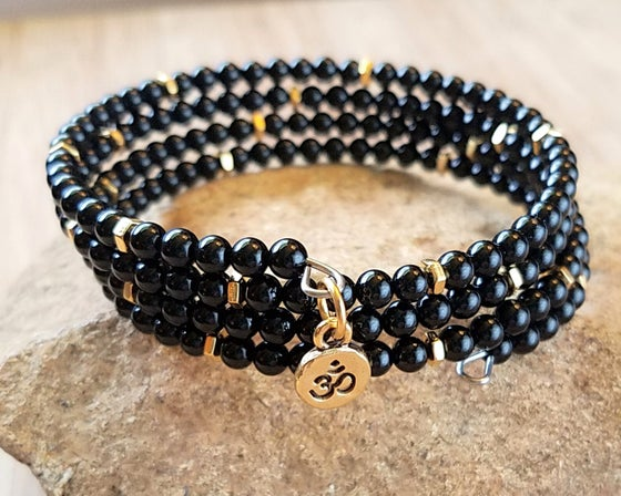 Image of Black Onyx Wrap Bracelet