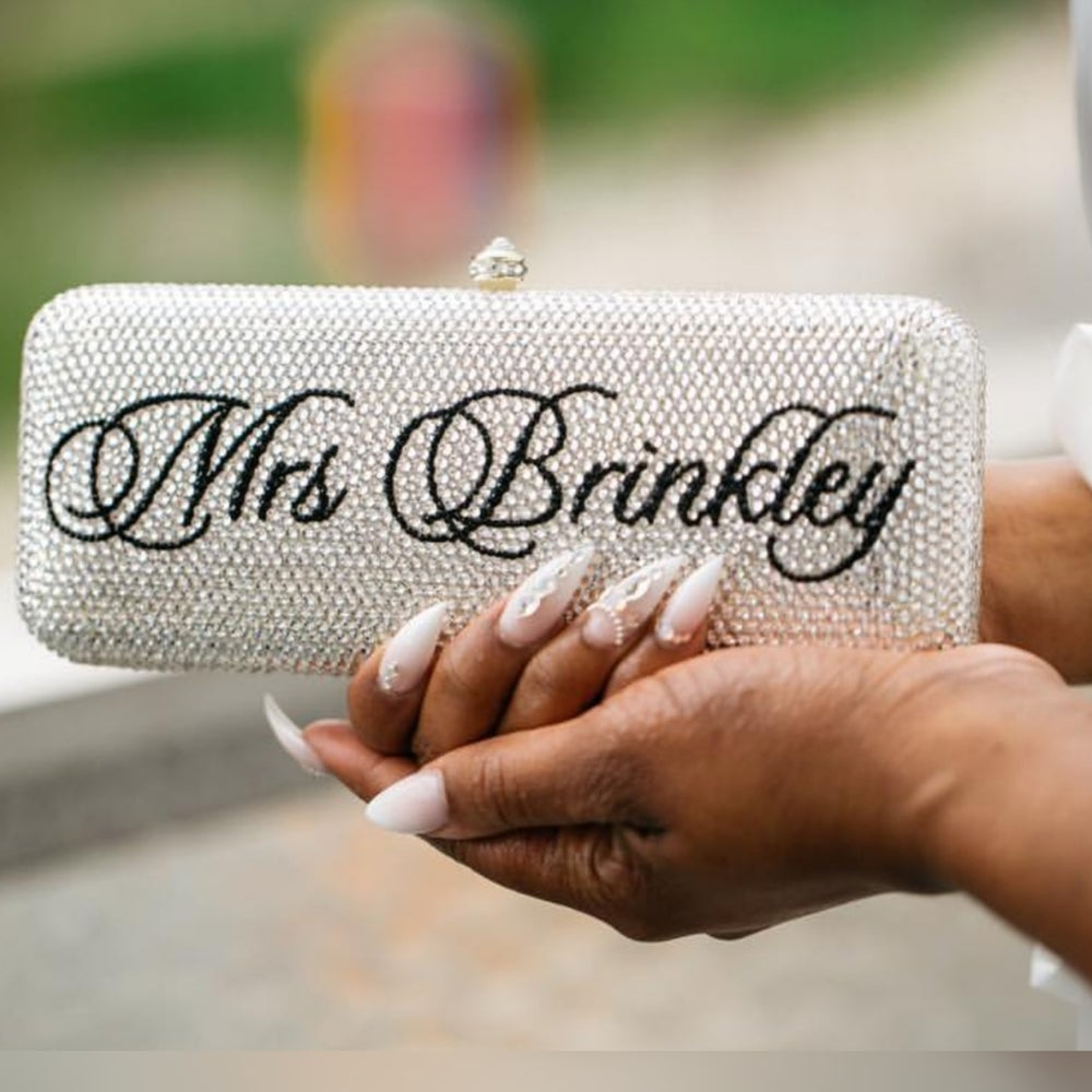 Image of Personalized Bling Clutch (Available in various stone colors)