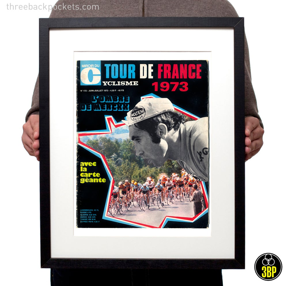 Image of Tour de France 1973 Eddy Merckx Magazine Cover Print