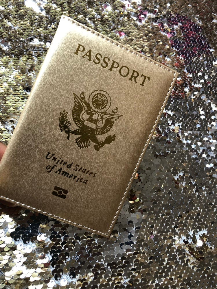 Image of *GLAM GLOBETROTTER* GOLD PASSPORT COVER