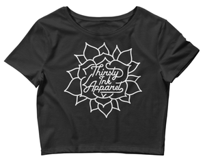 Image of Thirsty Ink Flower Crop Top