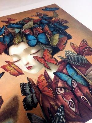 Image of Madam Butterfly Limited Edition Print by Benjamin Lacombe
