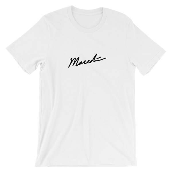 Image of Embroidered Logo White Tee