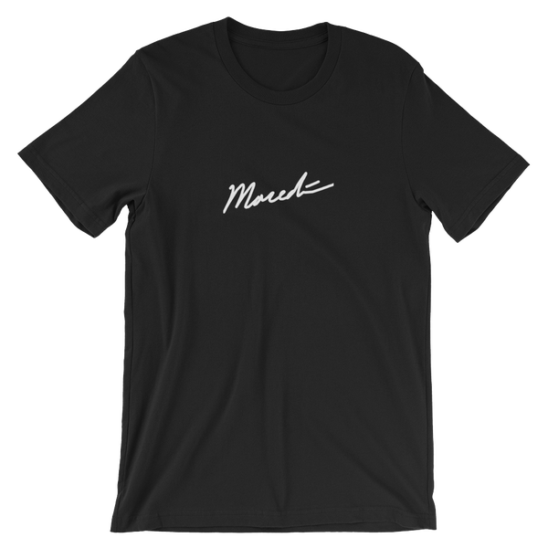 Image of Embroidered Black Tee