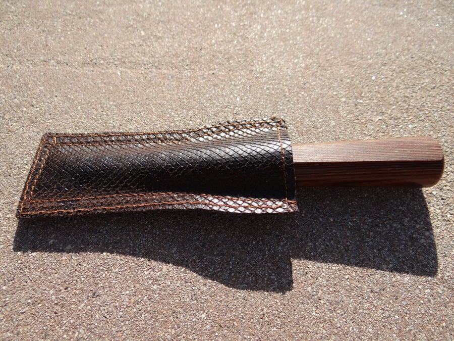 Image of #3-OBOE KNIFE SHEATH-100% real snake skin