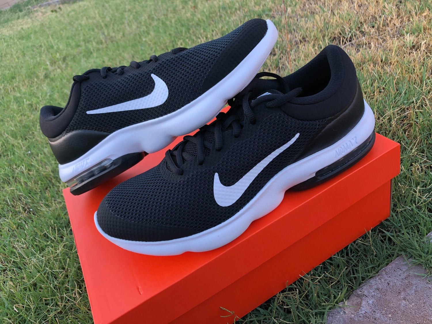 san francisco ab8f9 91cd4 Image of Nike Air Max Advantage Mens Running Shoe - Black  White