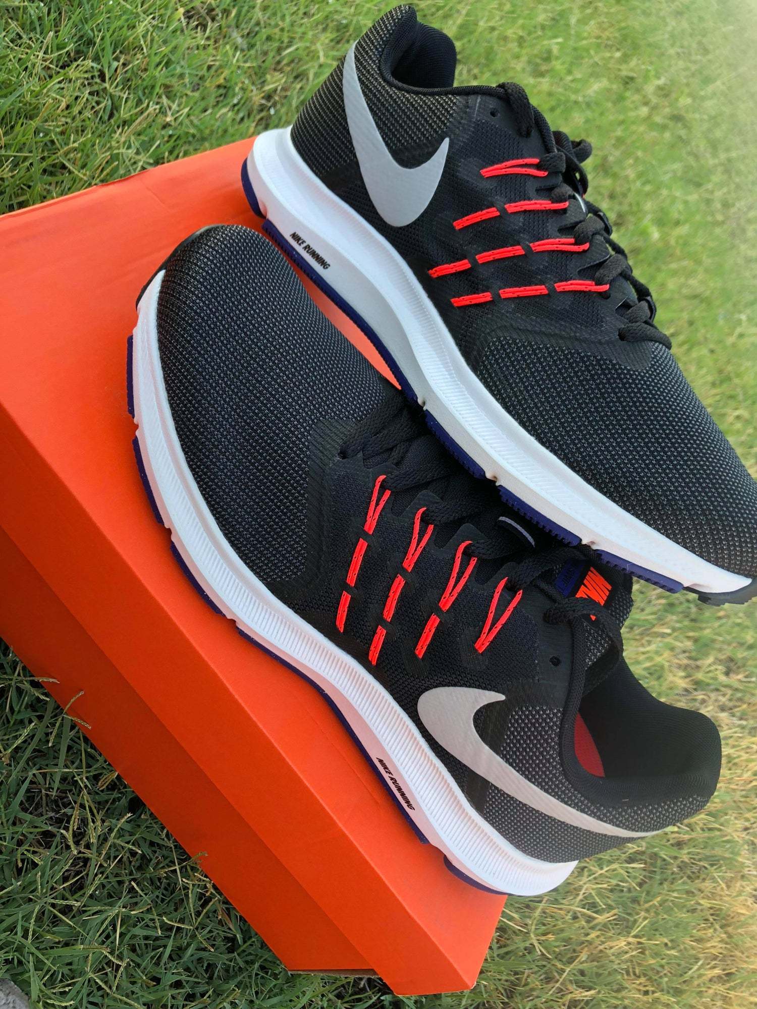 808be6152 Image of Nike Run Swift Men s Running Shoe - Black   Matte Silver   Bright  Crimson