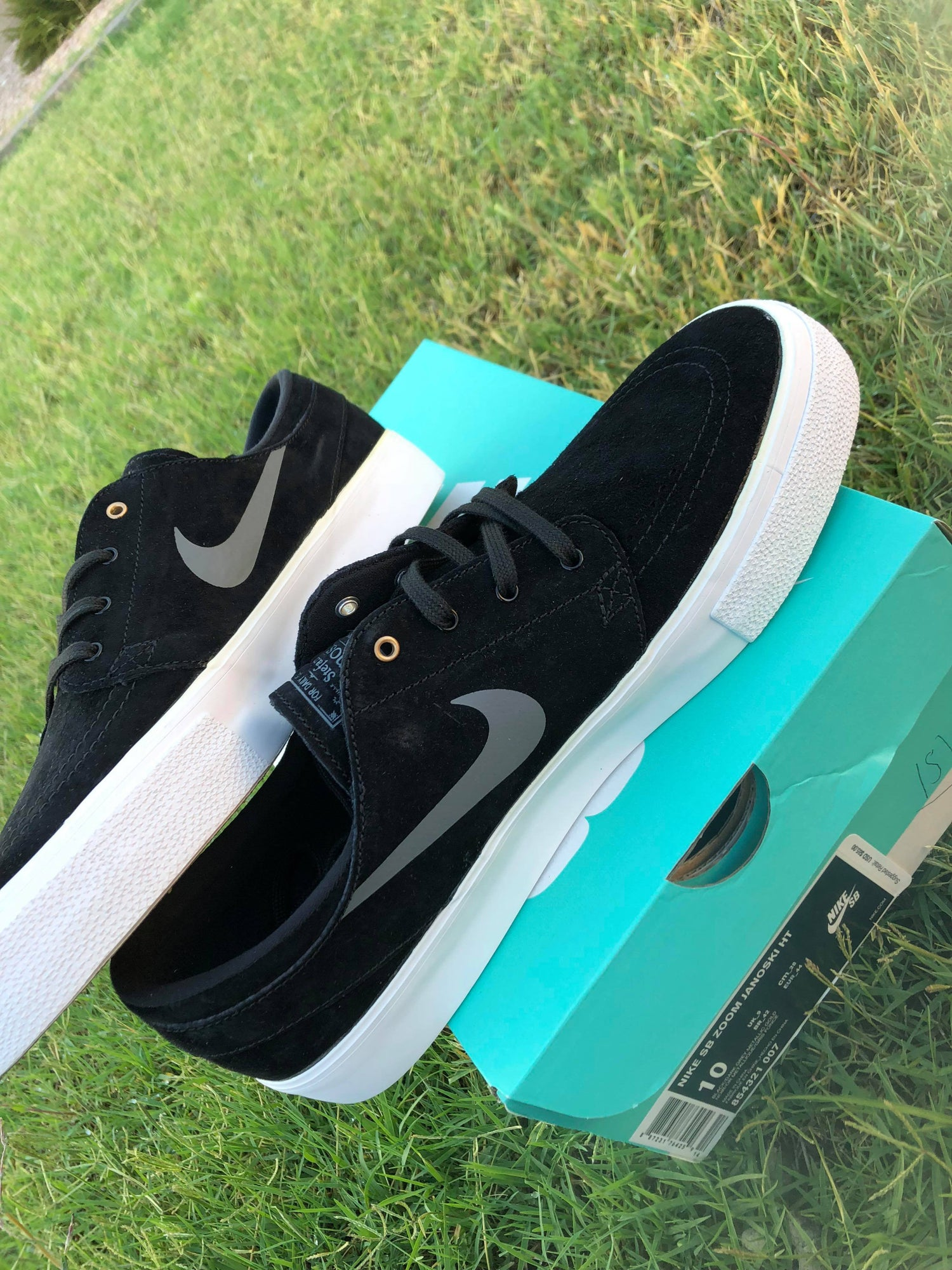 ... Metallic Gold   White. Image of Nike SB Zoom Stefan Janoski HT Men s  Skate Shoe - Black   Dark Grey. On sale 73fa84ccf