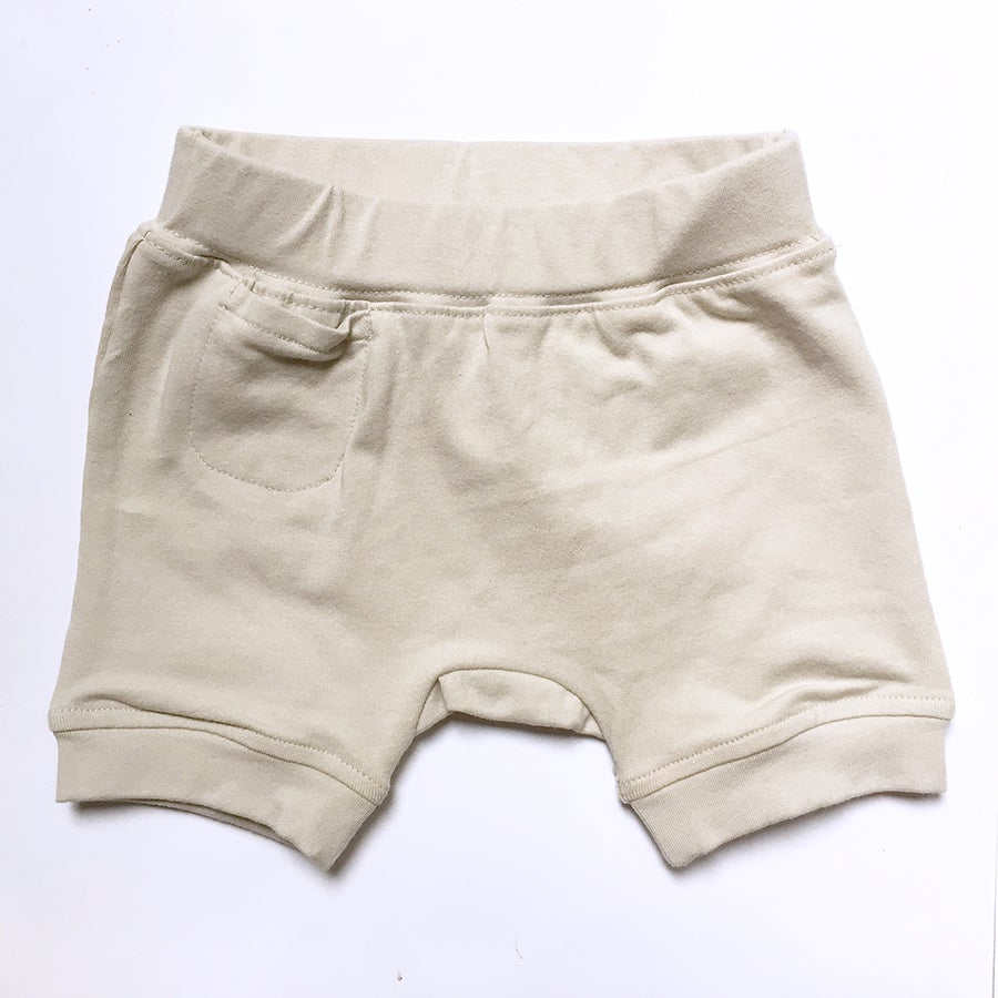Image of Hello Harem Shorts . Grey Beige