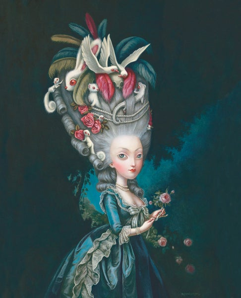 Image of Marie Antoinette à la rose Limited Edition Print by Benjamin Lacombe