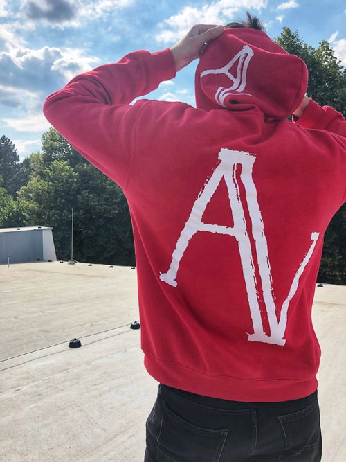 Image of Red Fade Hoodie
