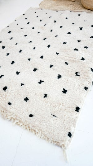 Image of RESERVED fot Adele Davis-Cash - BENIOUARAIN - Vintage Moroccan Wool Rug