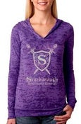 Image of Lightweight Purple Hoodie in Burnout Style