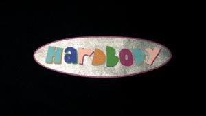 Image of humblxhardbody oval logo tee (navy/silver)