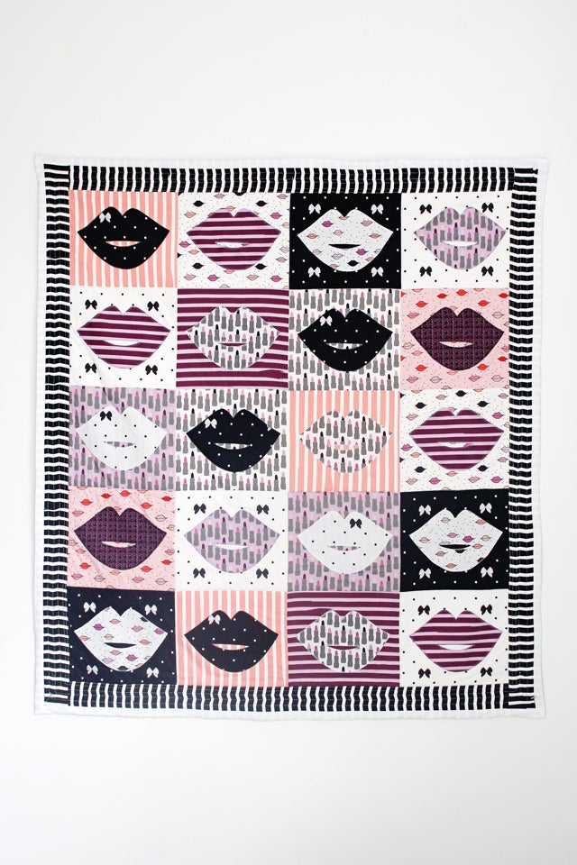 Image of Kiss Me Kate Lip Quilt