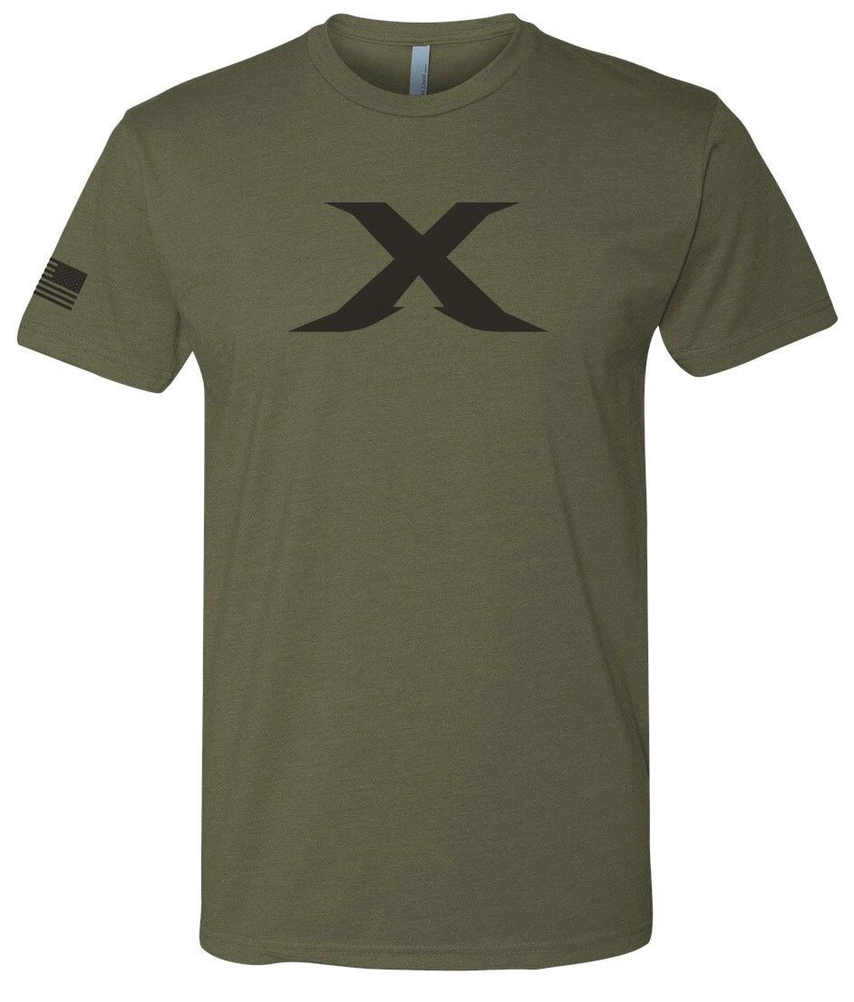 "Image of LIMITED EDITION: ""X"" Military Green Unisex Tee"