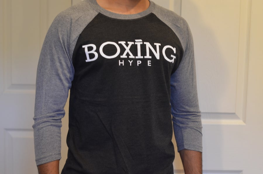 Image of Men's BoxingHype 2 tone 3/4 baseball tees