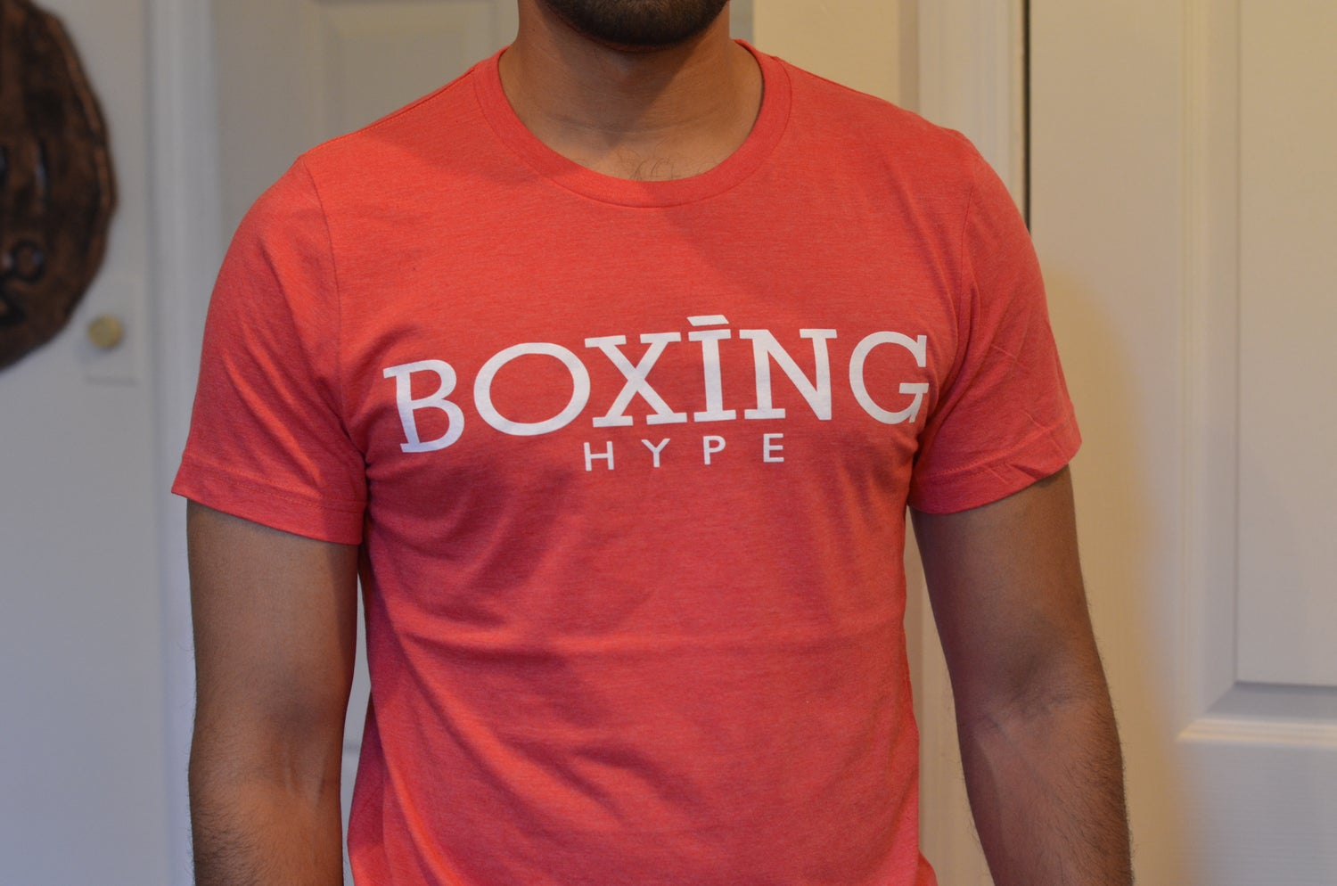 Image of Red Classic BoxingHype logo tees