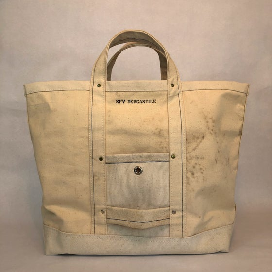 "Image of SFV MERCANTILE CO. LIMITED EDITION  ""BELL SYSTEM"" Type RIVETED CANVAS BAG"