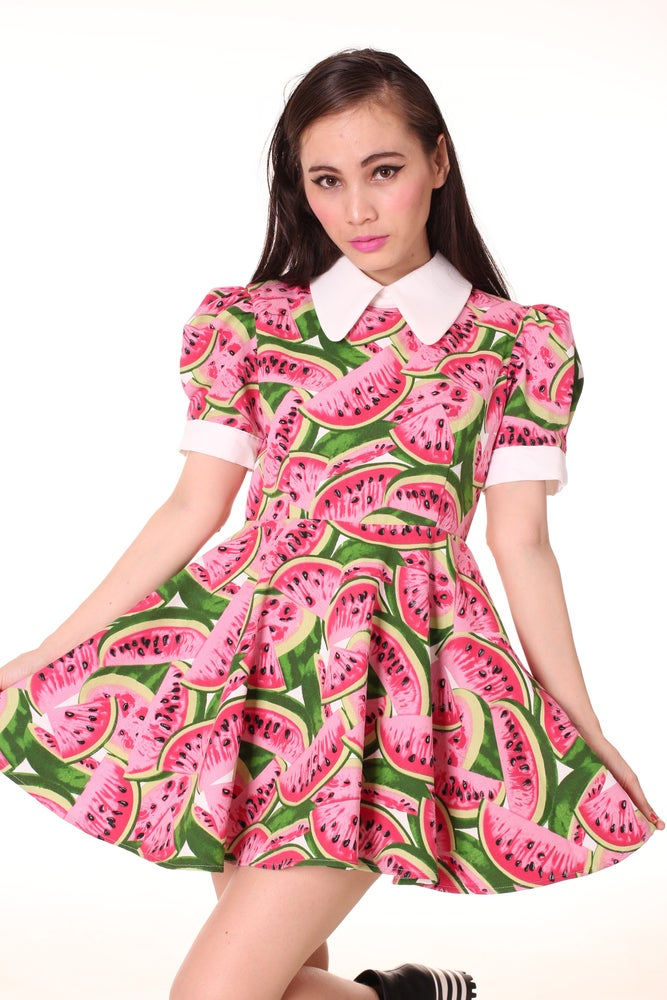 Image of Alice Dress In Watermelon Print