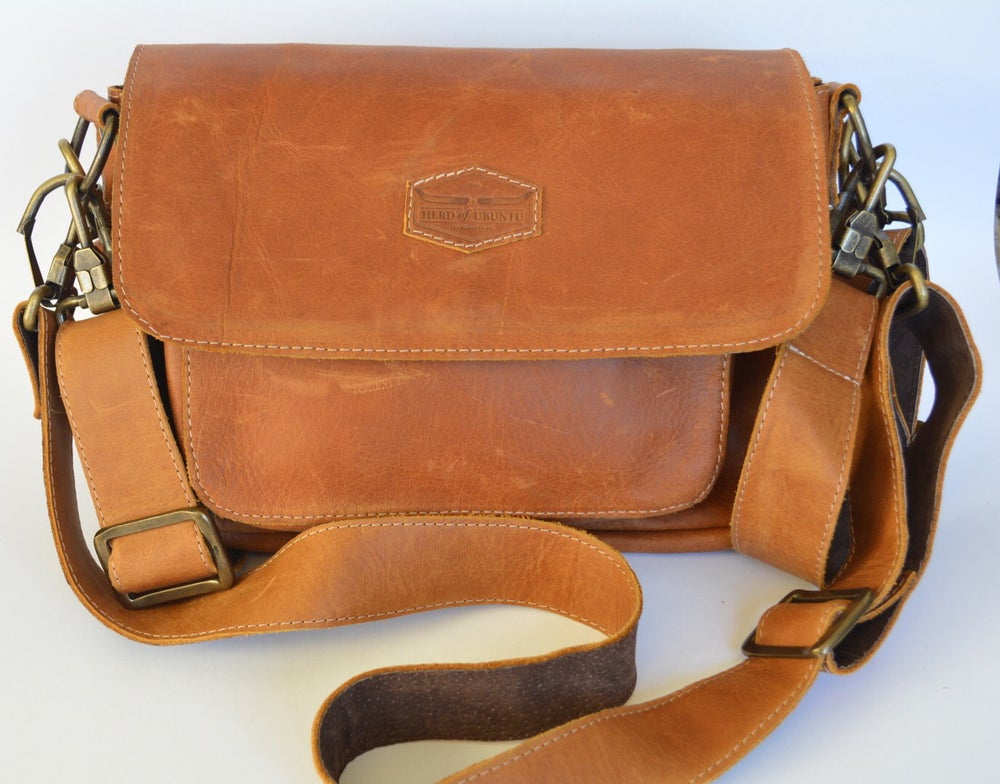 Image of Mama Africa Leather Pram Bag and Satchel