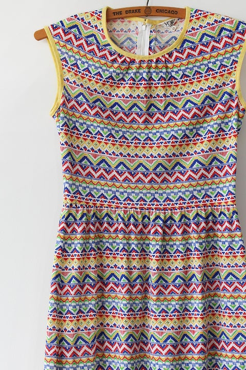 Image of Rainbow Aztec Dress
