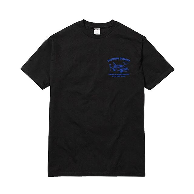 Image of STEEZE.LTD - EVENING DELIGHT TEE (BLACK)