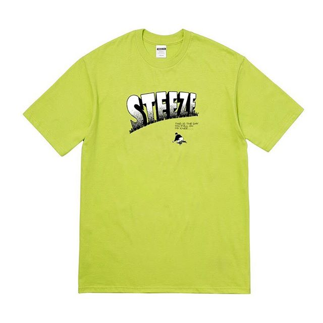Image of STEEZE.LTD - FALL ON MY KNEE TEE (LIME GREEN)