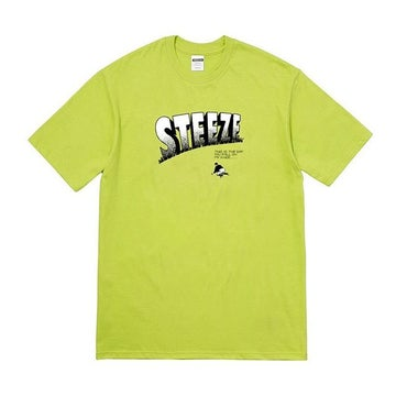 Image of STEEZE.LTD - FALL ON MY KNEE TEE (LIME GREEN)