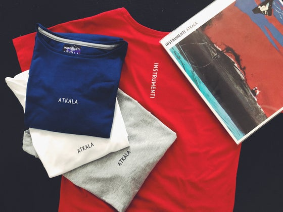 Image of Instrumenti t-shirt Atkala, RED, BLUE, WHITE or GREY