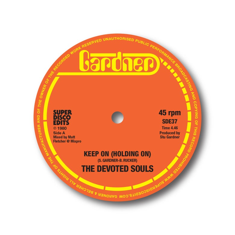 "Image of The Devoted Souls ""Keep on (Holding on) Gardner  12 single"
